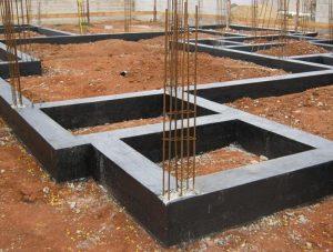 Obra que utiliza vigas baldrame como solução principal para fundação